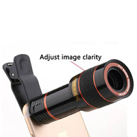 14X التكبير 4K HD تليفوتوغرافي الهاتف عدسة أحادي تلسكوب كاميرا ل فون XS ماكس XR X 8 7 زائد سامسونج الروبوت الذكي