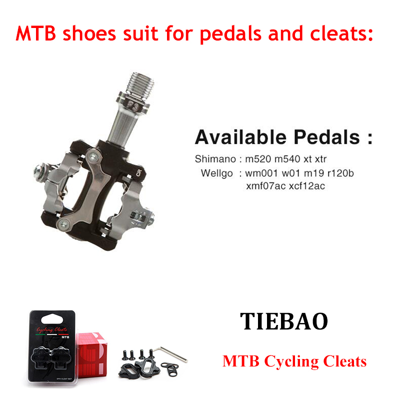 Купить с кэшбэком Tiebao Cycling Shoes sapatilha ciclismo MTB SPD pedals Mountain Bike Shoes Breathable Self-Locking sneakers Men Bicycle Shoes
