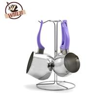 1 Satz Türkische Kaffeemaschine Edelstahl Moka Espresso Kaffeekanne Werkzeuge