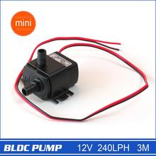 12V Mini DC Pump, 240LPH, 3M 4.8W, Submersible, Super long life>30000 hours, Fountain, Aquarium, Water Circulating