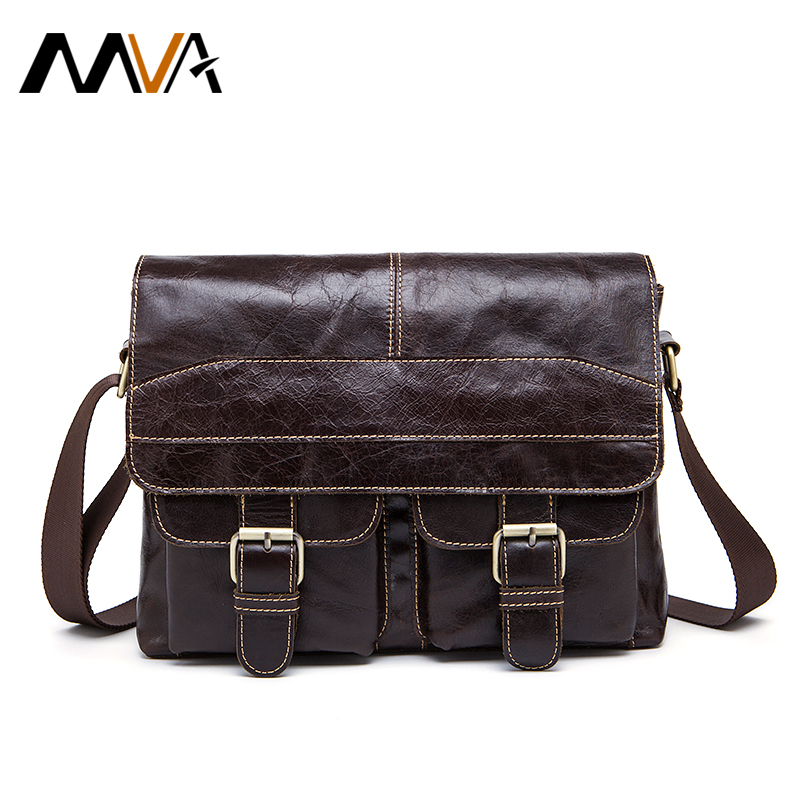ФОТО MVA Messenger Bag Leather Men Bags Genuine Leather Bag Small Shoulder Crossbody Bags Casual Laptop Handbag Business Briefcase