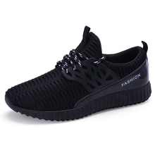 2016 Men Running Shoes Sport Big Size Black/Gray Mesh Jogging Shoes For Men Summer/Autumn Sneakers Mens Athletic Trainers Male