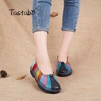 Cow Muscle Ballet Shoes Summer Autumn Multicolor Women Genuine Leather Casual Shoes Woman Flat Flexible Nurse