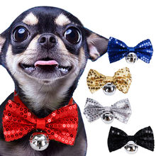 Cat Dog Bow Tie Retro Bow Tie Big Bow Pet Decoration Sequin Collar Bow Tie Dropshipping Mar27(China)