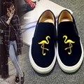 Star Стиль Плоские Туфли На Платформе Роскошный Вышивать Повседневная Обувь Loafer Лучших Мягкая Натуральная Кожа Обувь Одного Ленивый Обувь