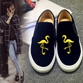 Star Style Flat Platform Shoes Luxury Embroider Casual Shoes Loafer Top Soft Genuine Leather Single Shoes Lazy Shoes
