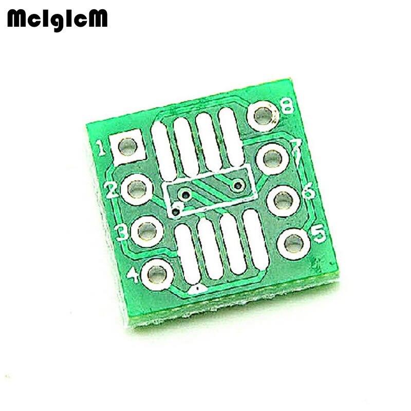 MCIGICM 100PCS TSSOP8 SSOP8 SOP8 SMD To DIP8 IC Adapter Converter Socket Board Module Adapters Plate 0.65mm 1.27mm Integrated