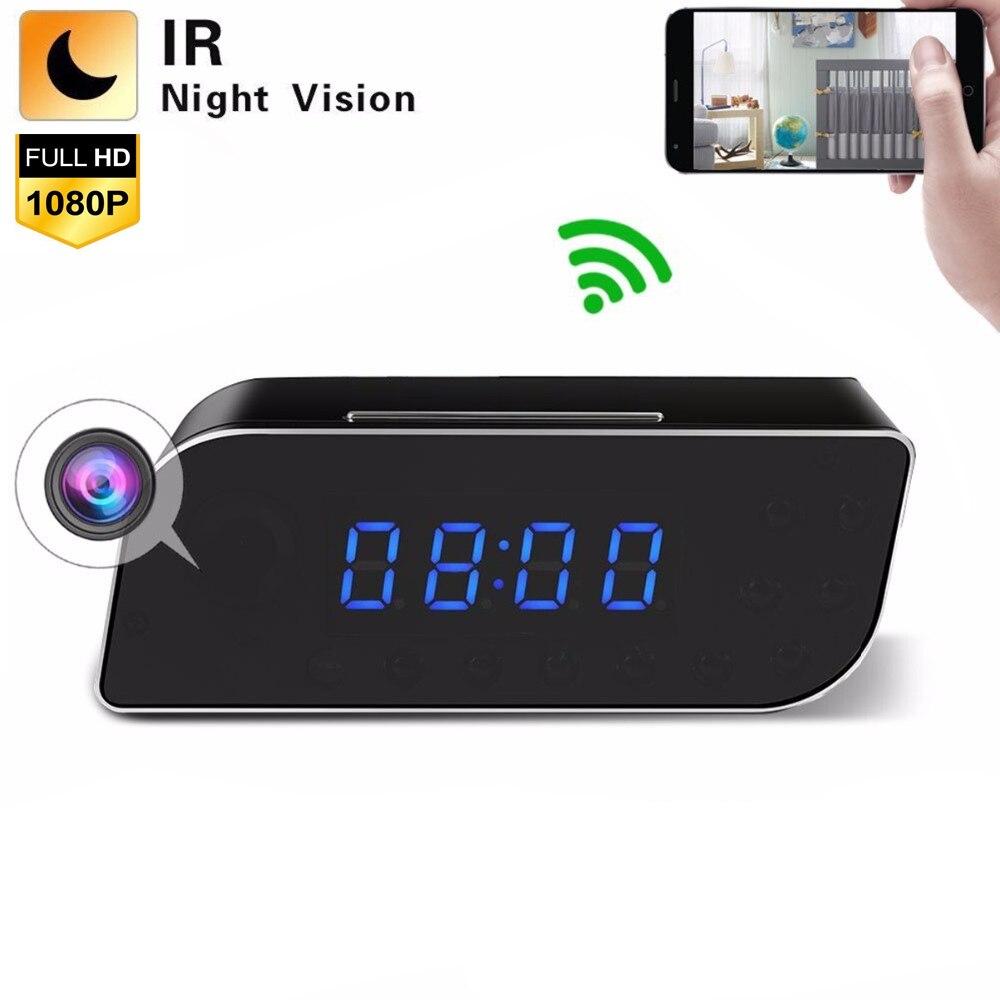 Surveillance Camera WiFi Clock HD 1080P Night Vision Motion Detection Nanny Cam