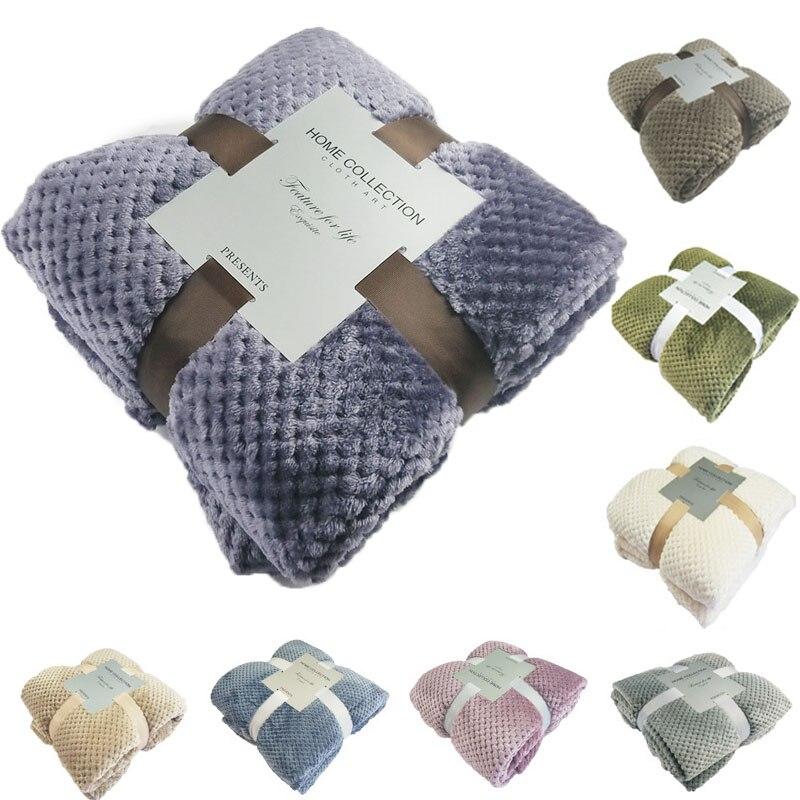 Super Macio Cobertor de Flanela Sofá Do Escritório de Uso de Aeronaves Crianças Toalha Cobertor do Velo de Viagem Malha Cobertor Capa de Viagem de Carro Portátil