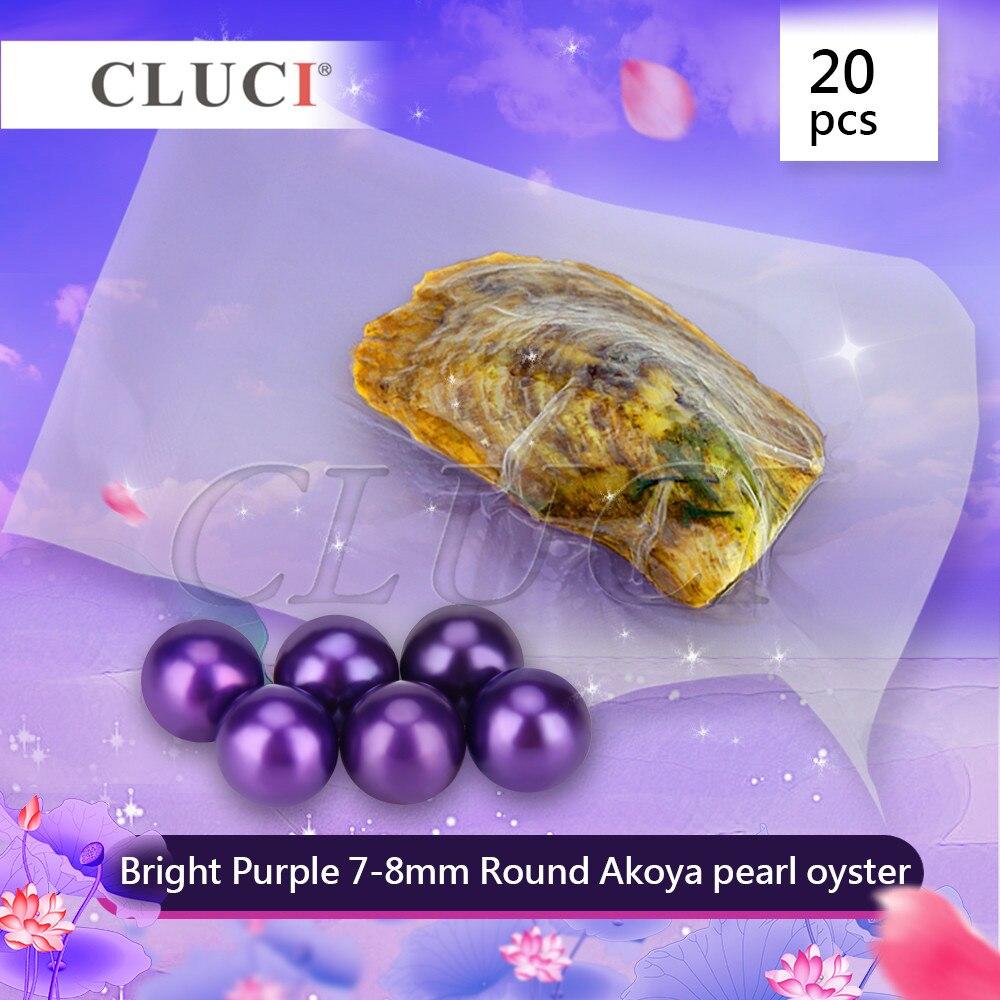 CLUCI 20 pièces 7-8 MM VIOLET VIF akoya huîtres avec perles, jolies perles pour la fabrication de bijoux, qualité, LIVRAISON GRATUITE