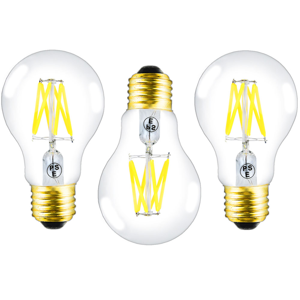 Edison Vintage 110v E26 E27 A19 A60 40w 60w Equivalent: Dimmable Edison LED A19 Light Bulbs Soft White 6W E26 E27