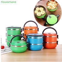 Lunch Boxs 1 2 3 Tiers Stainless Steel Japanese Bento Box Portable Picnic Container For Food