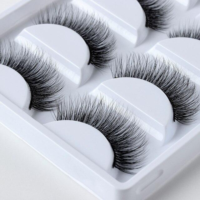 5 Pairs Mink Hair False Eyelashes Handmade Natural Long Cross Cilia 3D Lashes Beautiful Wispy Eye Lashes Makeup Extension Tools False Eyelashes