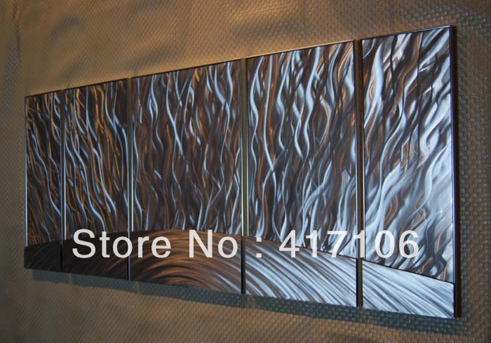 "Beautiful Modern Metal Wall Hangings For Your Home: 56"" Abstract Modern Metal Wall Art Sculpture Aluminum"