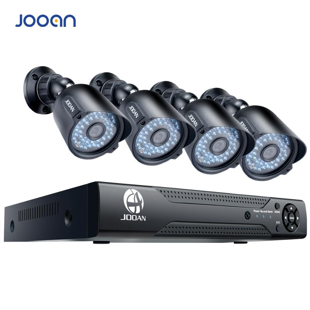 JOOAN 8CH DVR CCTV Video Recorder 4PCS 720P Αρχική Ασφάλεια Αδιάβροχη Ασφάλεια Night Vision Σύστημα Κάμερας Συστήματα Παρακολούθησης