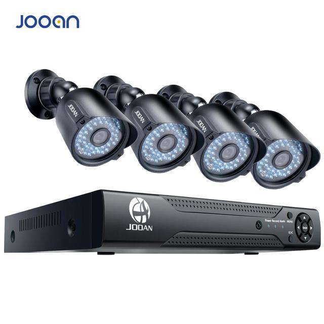 JOOAN 8CH DVR videoregistratore CCTV 4PCS 1080P sicurezza domestica impermeabile visione notturna kit di sorveglianza del sistema di telecamere di sicurezza