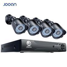 JOOAN grabador de vídeo CCTV, 8 canales, DVR, 4 Uds., 1080P, seguridad del hogar, impermeable, visión nocturna, sistema de cámaras de seguridad, Kits de vigilancia
