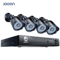 Promo JOOAN 8CH DVR videograbadora CCTV 4 Uds 720P seguridad del hogar impermeable visión nocturna cámara de seguridad sistema de vigilancia Kits
