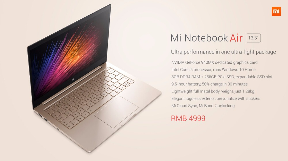 Xiao Mi Mi Notebook Air 13,3 i5-6200u Prozessor 8 Gb Ddr4 Ram 256 Gb Pcie Ssd Erweiterbar Ssd Slot Silber Farbe 2019 New Fashion Style Online Heim-audio & Video