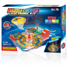 Snap Circuits STEM Toys for Children Educational Learning Integrated Building Blocks Circuit Brick Science Physics Experiment 2018 new outdoor game style children s science experiment stem science education science educational toys 7 in 1 detective glove