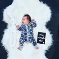2016 Otoño Geométrica Impreso Mono de Los Mamelucos Del Bebé Del Niño Del Bebé Muchachas de Los Muchachos Del Mono Unisex Ropa de Bebé Recién Nacido Conjunto BR111
