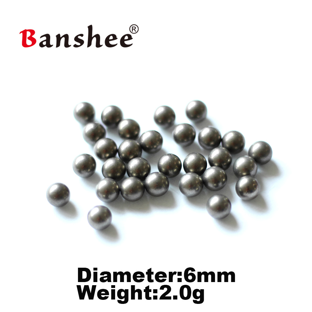 18g cc High Density 6 0 6 5mm Fishing Tungsten Beads 100pcs lot High Purity Tungsten