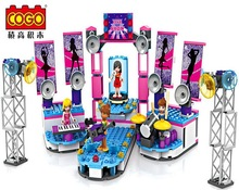Cogo14530 the Dream girl band performance Model Building blocks Minifigures action figures baby Toys for children