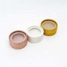 Seashine 10 P Round Boxes Gold White Rose Black Just Box 3D Mink Eyelashes Extension Strip False Fake Lash Free Shipping