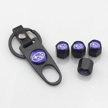 4 шт. Шток воздушного клапана шины для автомобильных колес колпачок s брелок Противоугонная автомобильная шина для колес колпачок клапана для Subaru Legacy