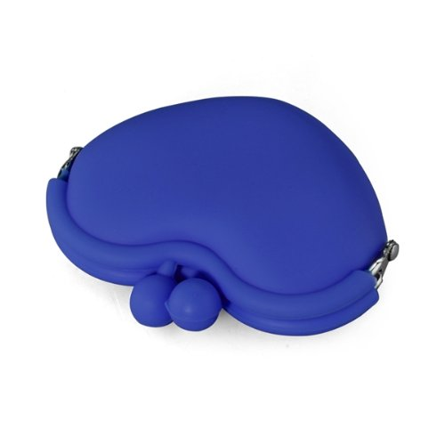 FGGS-Sapphire Blue Candy Silicone Key Coin Change Heart Wallet Purse Bag Pouch Case sapphire