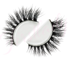 Free shipping 3d luxury 100% real mink strip lashes lilly doha kuwait famous lashes natural long soft mink lashes
