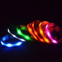 1 шт. нейлоновый светодиодный ошейник для собак Ночная безопасность мигающий светится в темноте поводок для собак светящиеся флуоресцентные ошеники товары для животных