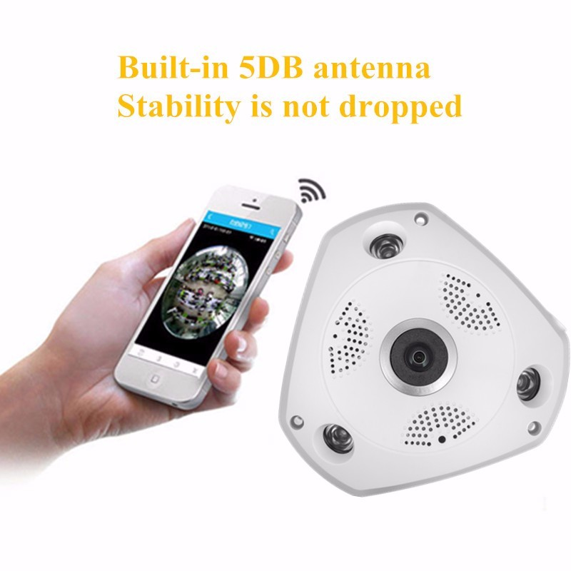 1.3MP 960P 3D VR Cam WIFI IP Camera Fisheye Lens with16GB HD Panorama Cameras IR Night Vision CCTV Security Camera 16GB for Free qhy5l ii c imager guider cameras with free a 8mm cctv lens