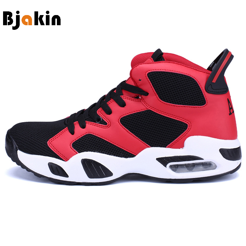 Bjakin Males Basketball Shoes Classic Retro Court Streetball Shoes Cushioning Women Men Basketball Ankle Boots Sneakers Couple