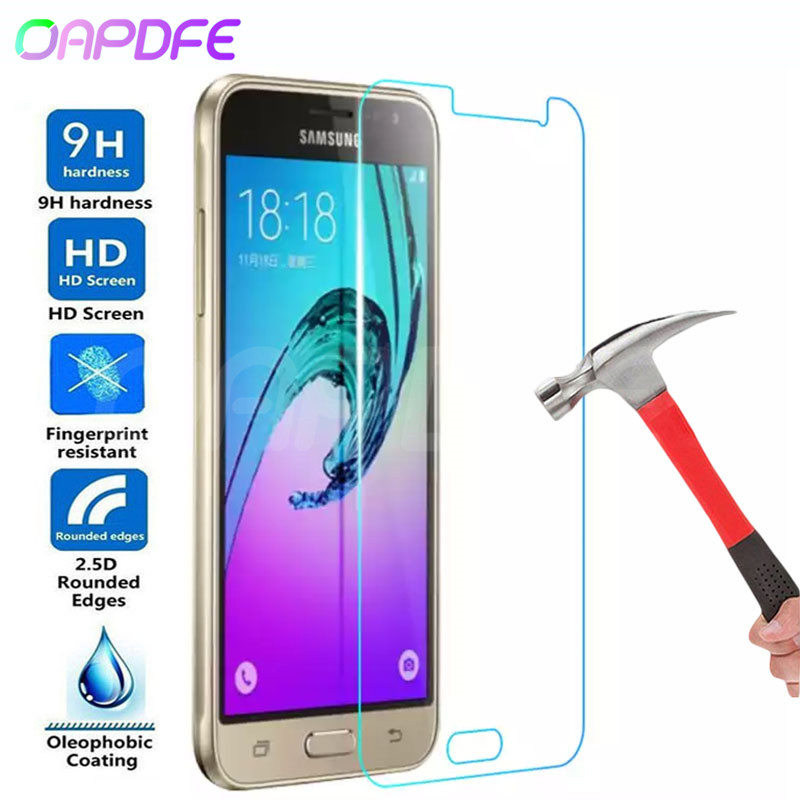 Premium Tempered Glass on the For Samsung Galaxy S7 J3 J5 J7 2015 2016 2017 J3 J7 2018 Screen Protector HD Protective Film Case(China)