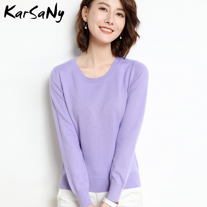 Yellow Cashmere Sweater For Women Sweaters Female Pink Wool Winter Woman Sweater Knitting Pullovers Knitted Sweaters Jumper 2020 19