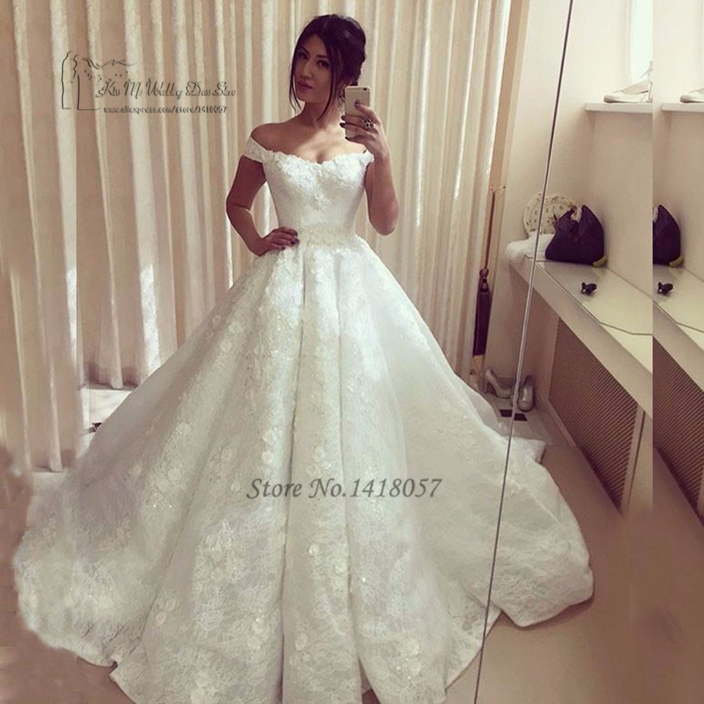 Lace Wedding Dresses Turkey Princess Wedding Gowns off Shoulder ...