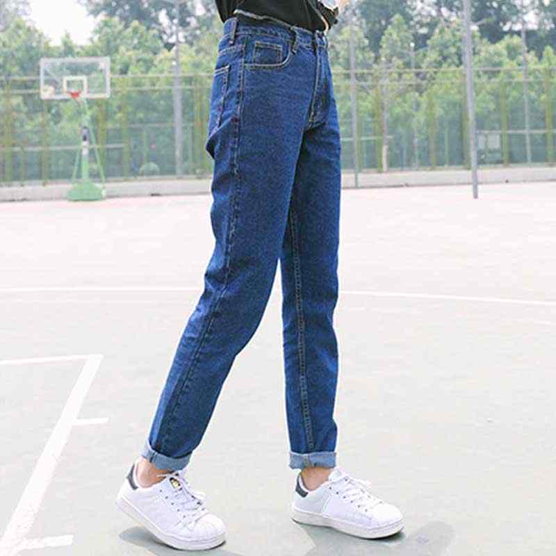 HEE GRAND 2018 плюс размер джинсы на молнии женские с высокой талией потертые свободные шаровары Весенние Брюки для женщин джинсы WKN479
