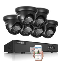 2016 SANNCE 1080P CCTV System HD 1080N 8CH AHD DVR 6PCS 1 0MP 720P 1200TVL Dome