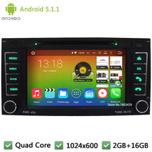 Quad Core Android 5.1.1 1024*600 Car DVD Player Radio PC Audio Stereo Screen For Volkswagen VW T5 Multivan Transporter 2004-2009