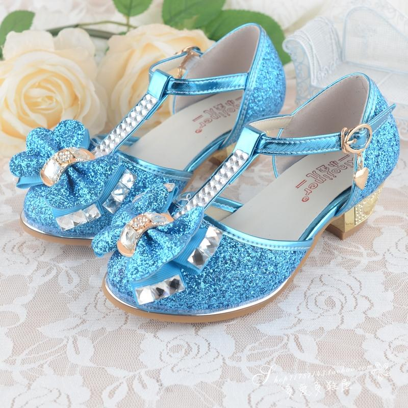 qloblo Girls Princess Shoes New Spring Good Quality Kids Wedding Sandals  for Bowknot Children Party Shoe High heeled size 27~37-in Sandals from  Mother ... c3b49a4aa4e7