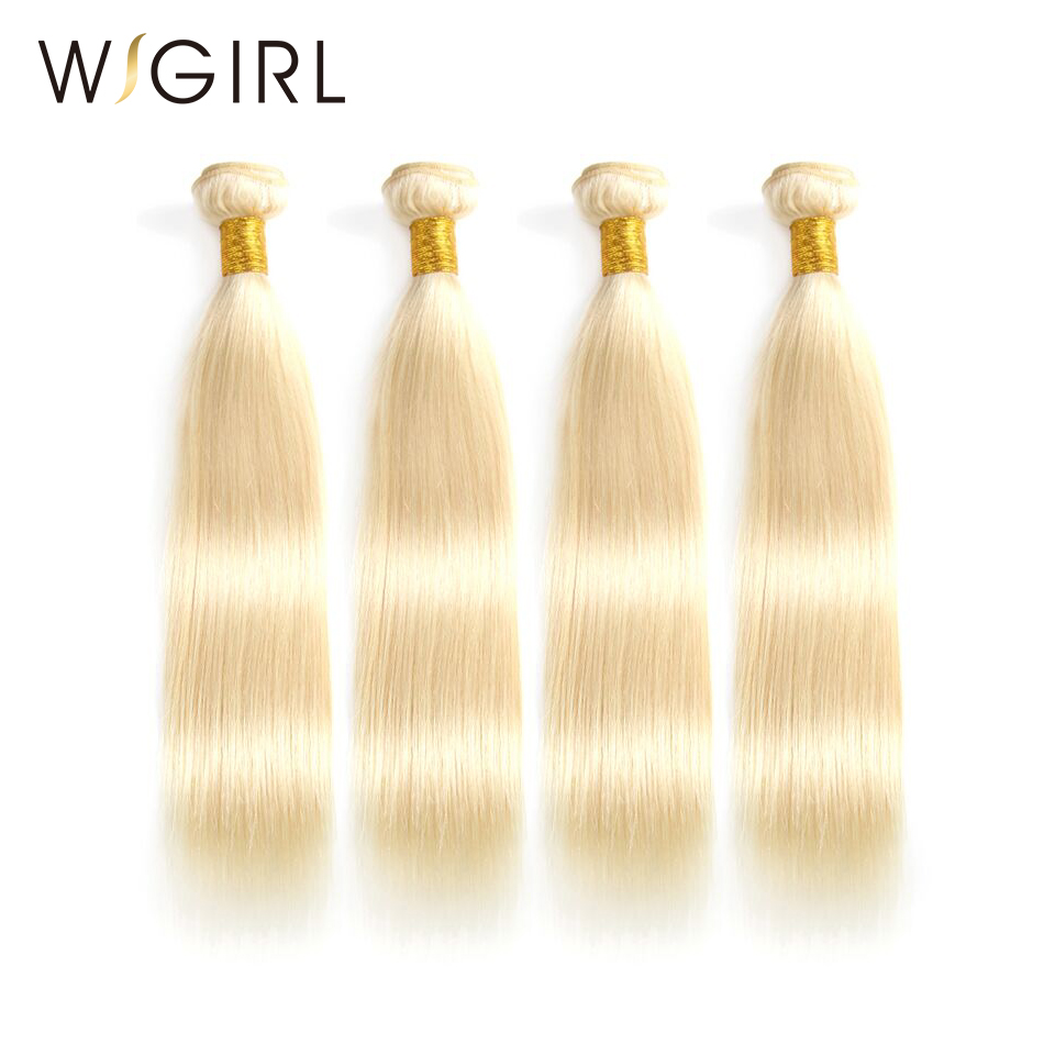 Wigirl Hair Brazilian Straight Remy Human Hair 4pcs Pure Blonde Hair Bundles 613 Color Hair Wefts With Free Shipping Relieving Rheumatism And Cold Hair Extensions & Wigs 3/4 Bundles