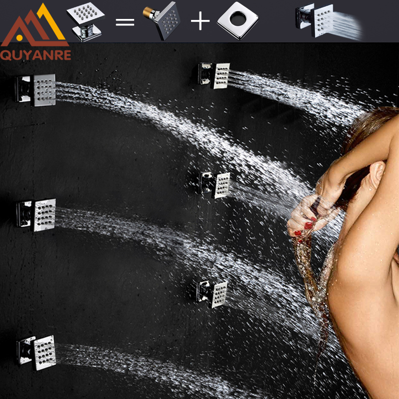 Quyanre 6cs Shower Body Massage Spray Jets Bath SPA Massage Jets Sprayer Aerosols Brass Chorros Shower Free Shipping кастрюля эмал сфер 3 0л 1rс181м клубничная 1100419