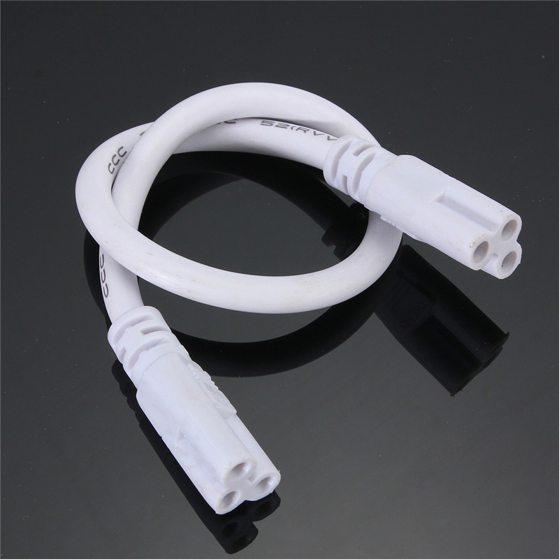 Hot Sale T5 <font><b>T8</b></font> Tube Connector Cable Wire Cord 28cm Double End Cable Wire For Integrated <font><b>Led</b></font> Fluorescent Light <font><b>Lamp</b></font> 85-265V image
