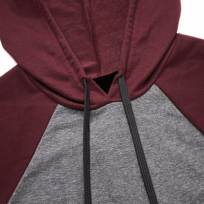 Grå långärmad T-shirt Hooded 2018 Nya Women Sweatshirt Pocket - Damkläder - Foto 4