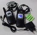 T388 2 unid paquete Doble walkie talkie radios UHF transceiver/transmisor de radio de 2 vías interfono PMR/FRS + accesorios