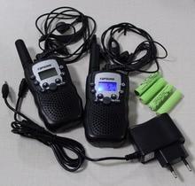 T388 2pc pack Twin walkie talkie radios UHF transceiver/transmitter 2 way radio interphone PMR/FRS + accessories