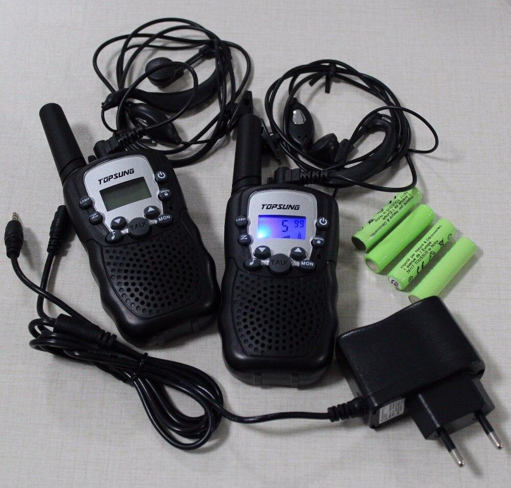 T388 2pc Pack טווין מכשירי קשר רדיו UHF מקמ