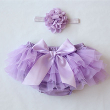 2021 Bloomers Baby Girl Shorts For Babies Cotton Chiffon Diaper Cover Newborn Colorful Toddler shorts Clothing Set Free Headband