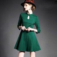 Free Shipping Ladies Dress Women Back Drop Cutout Lace Slim Waist One Piece Dress